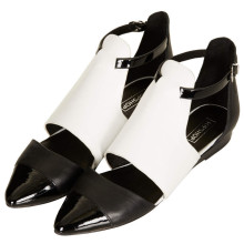 Topshop Kinky cut out low shoes