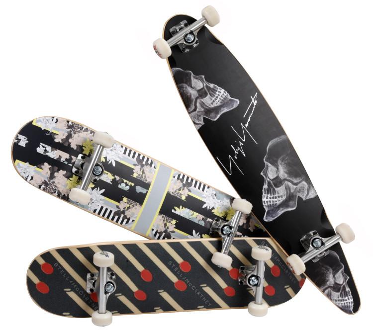 SELFRIDGES EXCLUSIVE skate boards from Stella McCartney_Erdem_Yohji Yamamoto - £75 each not including hardware
