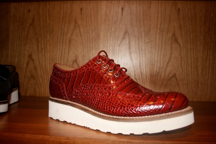 Patent red croc + lightweight vibram sole = sign me up